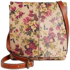 Patricia Nash Granada Crossbody (530 BRL) ❤ liked on Polyvore featuring bags, handbags, shoulder bags, antique rose, floral leather handbag, leather cross body handbags, genuine leather handbags, leather crossbody and leather crossbody purse                                                                                                                                                                                 More