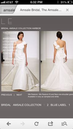 Amsale Bridal. Beautiful.