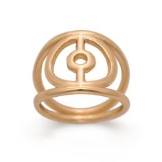 "Gold-plated brass ""Crop Circle"" Ring"