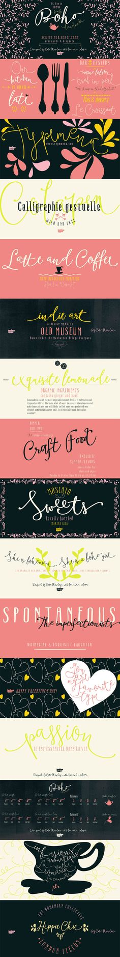 Boho Font by Latino Type | 22 Professional & Artistic Fonts Apr 2015