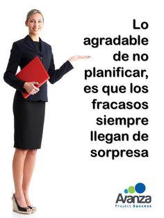 Planea de manera eficaz y eficiente, te invitamos a capacitarte con nosotros www.avanzaproyectos.com