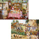 the kitchen garden - 2 x 500 piece