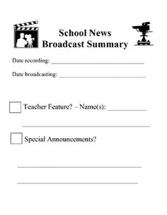$6 - This program includes instructions on how to set up the recording, editing, and broadcasting of a weekly, elementary school student-made news show.