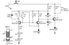 metal detector circuit diagram and working pinterest circuit rh pinterest com metal detector circuit diagram project metal detector circuit diagram free download