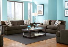 Shop for a Cindy Crawford Home $1700.00  Avery Place Granite   7 Pc Living Room at Rooms To Go. Find Living Room Sets that will look great in your home and complement the rest of your furniture. #iSofa #roomstogo