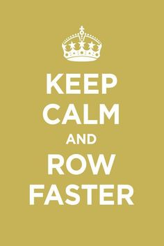 """unless you are trying to bring up your stroke rate, a more correct term would be """"row harder"""""""
