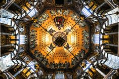 Ceiling of the Palatine Chapel in the Aachen Cathedral (Aachener Dom) Aachen Germany.