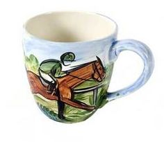 Racing Scene Small Much - Hand Painted by Frederique Poulain #Keeneland