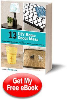 13 DIY Home Decor Ideas free eBook