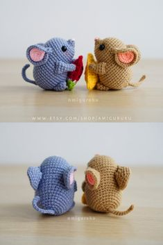 Mochi the Mouse crochet amigurumi pattern for beginners. Approximate size : 7 cm tall / (depends on the yarn). The pattern is available in English. Easy crochet mice tutorial by Anita Suria. Crochet Kawaii, Crochet Sloth, Crochet Mouse, Cute Crochet, Crochet Crafts, Crochet Dolls, Easy Crochet, Crochet Projects, Amigurumi Giraffe
