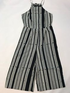 584bc71b11 PRIMARK Navy Patterned Wide Leg Culotte Jumpsuit UK 10