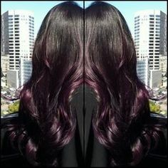 black hair dark purple ombre - Google Search
