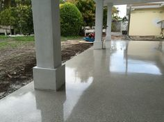 10 polished concrete patio ideas