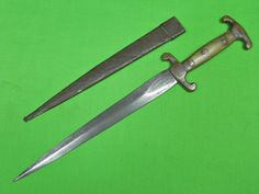 Antique Very Old Custom Handmade Hunting Fighting Knife & Scabbard
