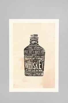 UrbanOutfitters.com > Jon Contino for Society6 Whiskey Art Print $24