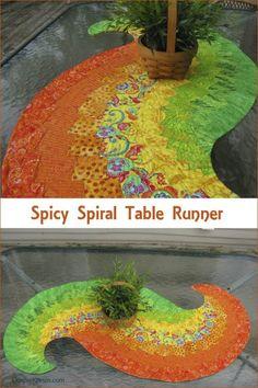 Spicy Spiral TableRunner conniekresin.com
