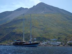 #Gulet #Pallas at #Stromboli. #SicilyCruise, best choice for your #holidaysinsicily. #Sicily is #BetterOnBoard