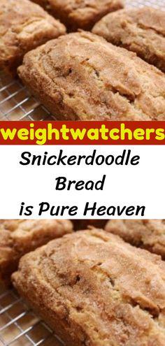 Snickerdoodle Bread is Pure Heaven - Dessert Bread Recipes Skinny Recipes, Top Recipes, Diabetic Recipes, Gourmet Recipes, Cooking Recipes, Bread Recipes, Recipies, Ww Bread Recipe, Healthy Recipes