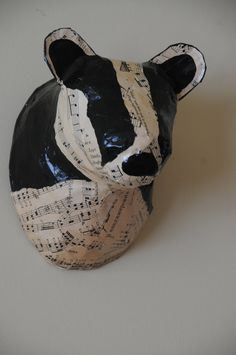 Faux Taxidermy Badger//Paper Mache Animal by BlueRoosterArts