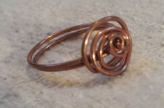 by VoidJewelry on Etsy Wire Jewelry, Jewellery, Unique Jewelry, Copper Rose, Wire Work, Uk Shop, My Etsy Shop, Handmade Gifts, Rings