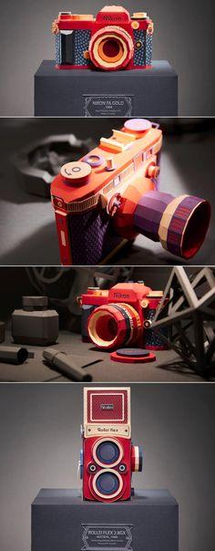 Lee Ji-hee recreates vintage cameras in paper