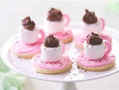 Teacup marshmallow cookies---I think there might be a way to copy this idea without having to make the cookies from scratch! Cute idea.