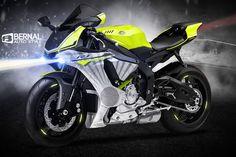 ArtStation - 2015 Yamaha R1, Matt Bernal                              …