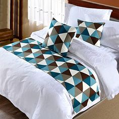 Decorative Quilts & Bedspreads Grid Bed Runner Single Double King Bedding Tail Pad Flag Home Hotel Decoration & Garden Bed Cover Design, Bed Design, Bedding Master Bedroom, Home Decor Bedroom, Draps Design, African Interior Design, Bed Runner, Contemporary Bedroom Decor, Diy Bett