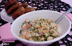 Cukkinisaláta Katától Potato Salad, Potatoes, Ethnic Recipes, Food, Potato, Essen, Yemek, Meals