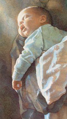 """Sleeping Newborn"" by Steve Hanks"