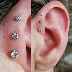 Sunset Single-Flare gauged ear plugs earrings for stretched piercings - Custom Jewelry Ideas Pretty Ear Piercings, Ear Peircings, Helix Piercings, Body Piercings, Tragus, Ear Jewelry, Cute Jewelry, Body Jewelry, Diamond Jewelry