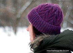 Twig Beanie - knitting pattern