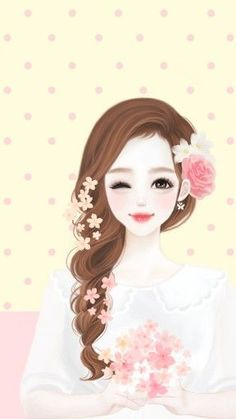 Discovered by Child-like Spirit ☼. Find images and videos about cute, anime and sweet on We Heart It - the app to get lost in what you love. Anime Korea, Korean Anime, Korean Art, Art Anime, Anime Art Girl, Beautiful Anime Girl, Beautiful Dolls, Lovely Girl Image, Cute Cartoon Girl