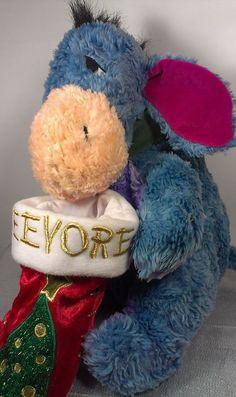 "EEYORE Stocking Winnie Pooh Disney Store 13"" Holiday Stuffed Animal Plush  #DisneyStore"