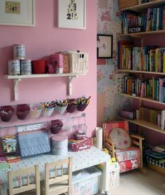 kids craft room--love this idea for Madeline (in the basement?)
