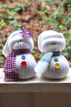 Craft These Cute Snowmen from Socks