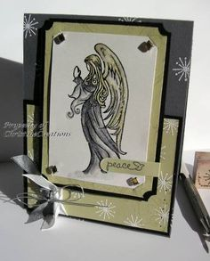 CC135 Porcelain Angel by ChristineCreations - Cards and Paper Crafts at Splitcoaststampers