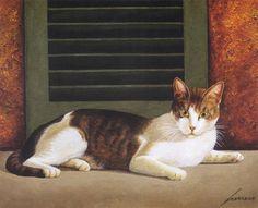 Kitty Art 2 -  by Lowell Herrero (b.1921)