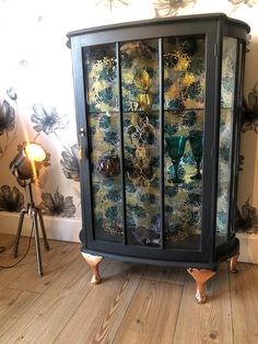 Upcycled Furniture, Painted Furniture, Glass Cabinet Doors, Curio Cabinets, China Cabinet, Dining Hutch, Dining Room, Drinks Cabinet, White Chalk Paint