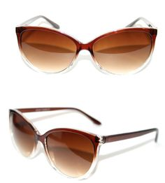 f90abafef9 Cateye Vintage Sunglasses Clear Brown Frame for Petticoat Dress Pinup 555