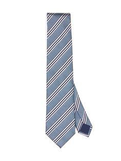 Jacquard silk #tie, light blue regimental pattern.  8.5 cm blade. #Corneliani #SS17 #accessories