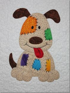 New Patchwork Quilt Children Appliques 55 Ideas Farm Quilt, Dog Quilts, Animal Quilts, Baby Quilts, Quilting Projects, Quilting Designs, Embroidery Designs, Sewing Projects, Applique Designs