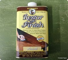 Restor-A-Finish-cleans and brings back the original finish-does not strip to bare wood.