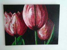 Tulpen , acryl schilderij
