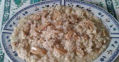 Πεντανόστιμο και γρήγορο -ελαφρύ και για το βράδυ !!!  Δυο φλυτζάνες ρύζι για ριζότο Μανιτάρια κονσέρβα Κύβο λαχανικών Λάδι Λεμόνι Αλάτ... Dessert Recipes, Desserts, Greek Recipes, Risotto, Oatmeal, Breakfast, Ethnic Recipes, Blog, Amazing