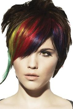 punky color hair dye   Punk hairstyles for long hair 2012 - Short Hairstyles - Zimbio