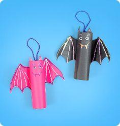 kids halloween craft cute bats