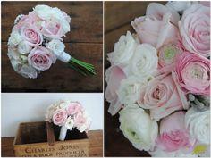 Ramo de novia Bouquet rosa francesillas y rosas Mayula Flores
