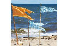 DIY Fabric Beach Flags – One Kings Lane
