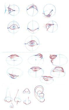 B.T.B- Eyes, lips, nose, ears by ~Liol on deviantART